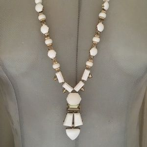 Stella Dot necklace white long one of a kind New